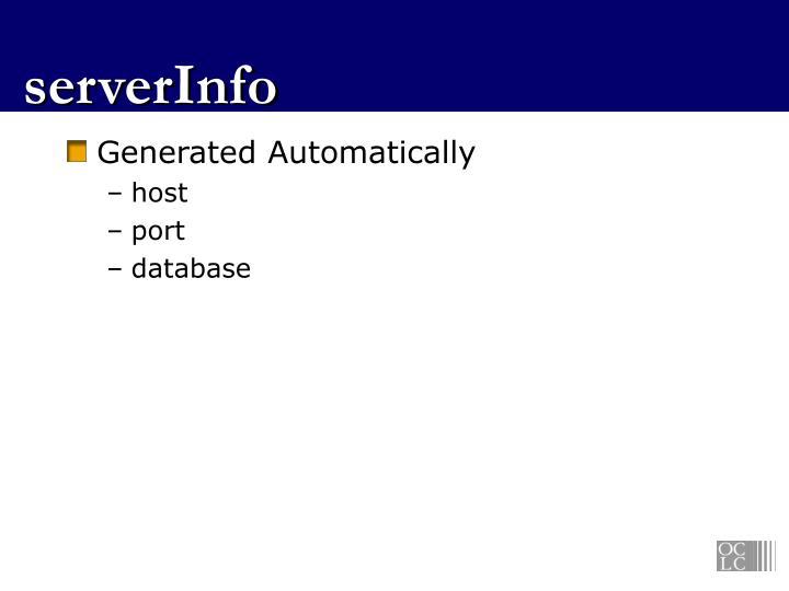 serverInfo