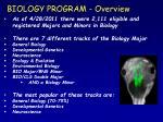 biology program overview