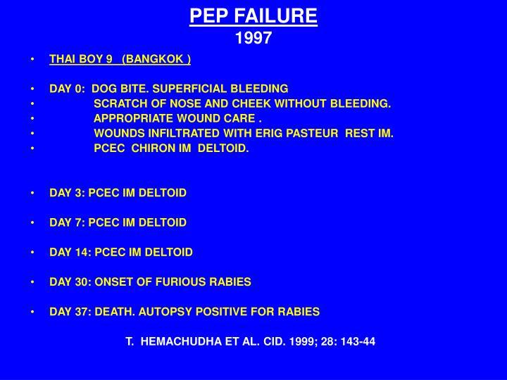 PEP FAILURE