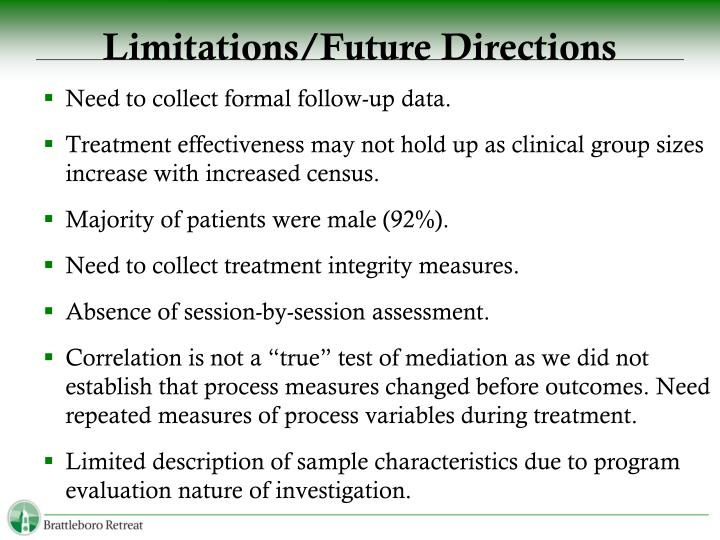 Limitations/Future Directions