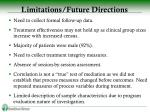 limitations future directions