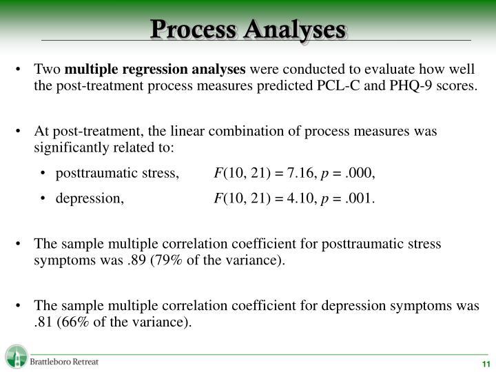 Process Analyses