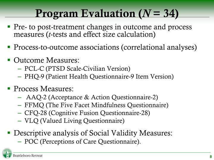 Program Evaluation (
