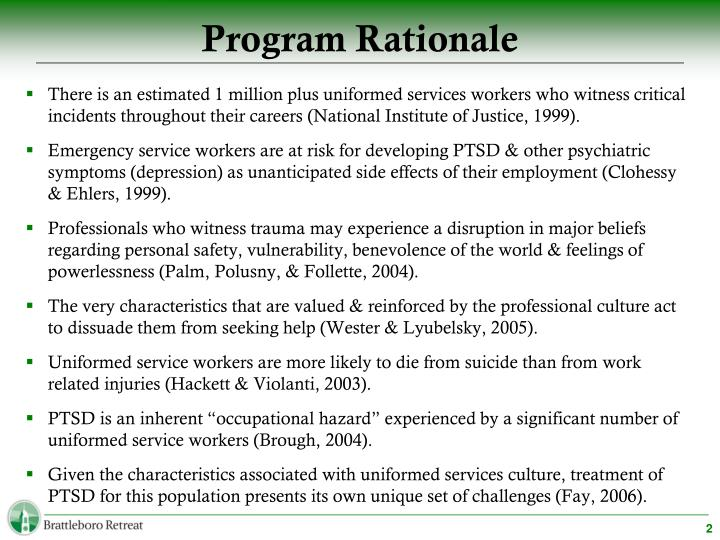 Program Rationale