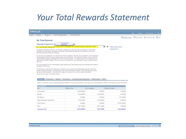 Your total rewards statement