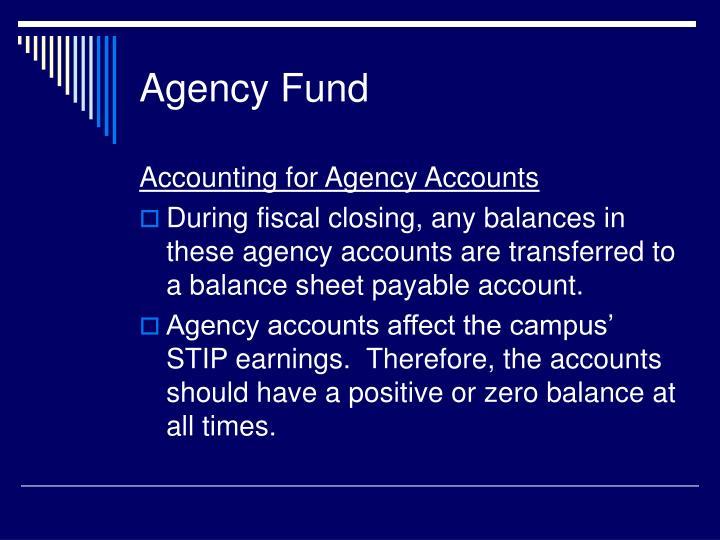 Agency Fund