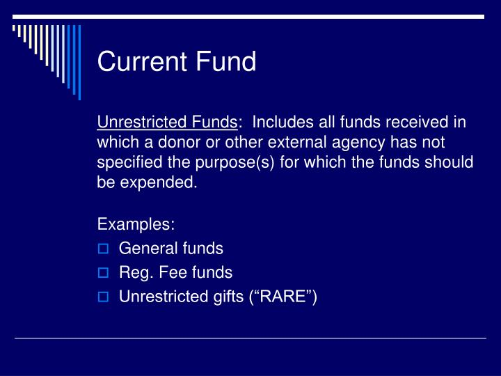 Current Fund