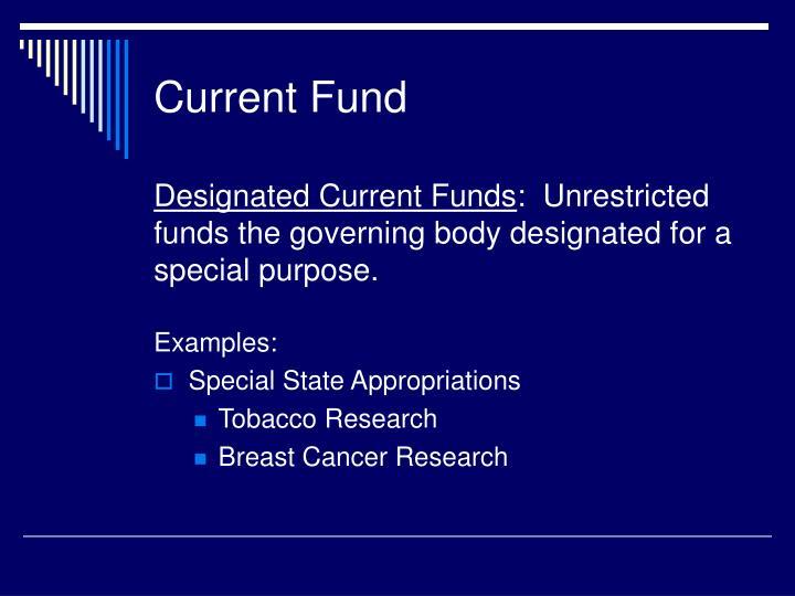 Current Fund