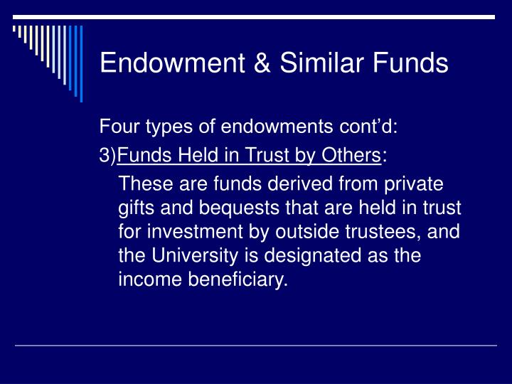Endowment & Similar Funds