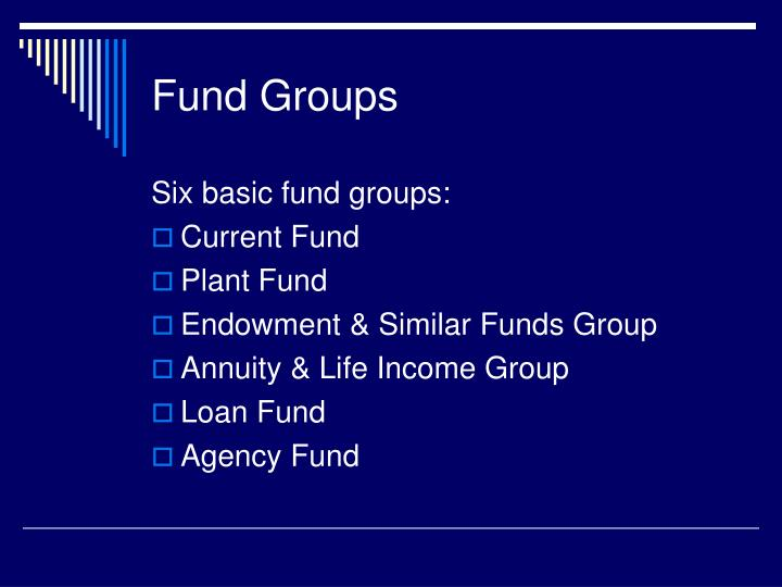 Fund Groups
