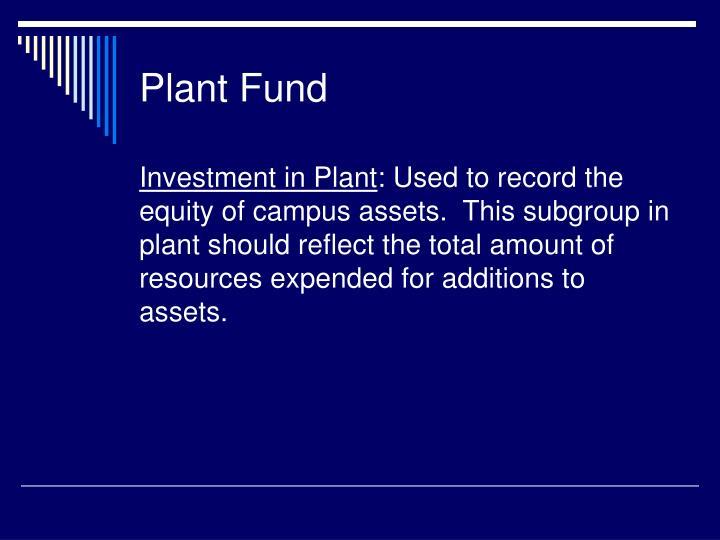 Plant Fund