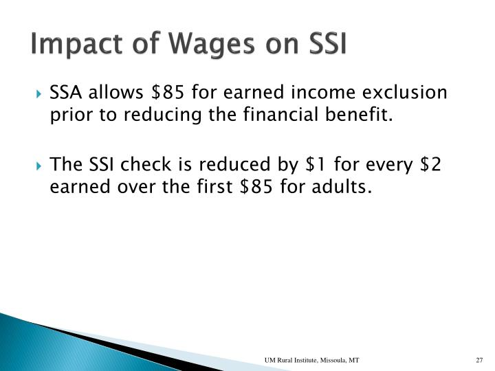Impact of Wages on SSI