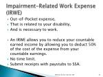impairment related work expense irwe