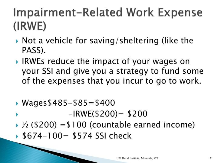 Impairment-Related Work Expense