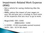 impairment related work expense irwe1