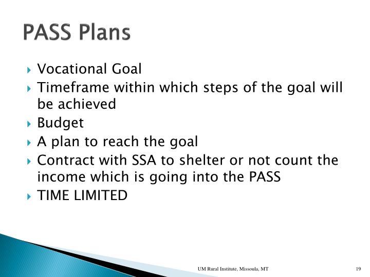 PASS Plans