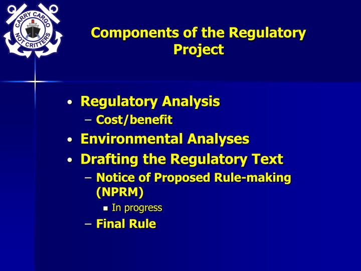 Components of the Regulatory Project