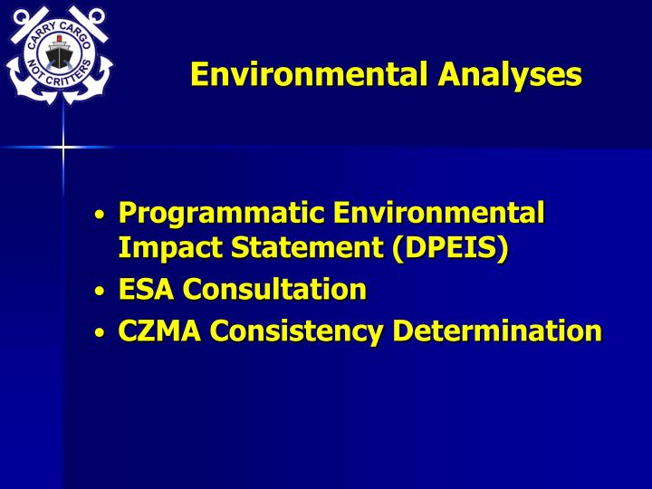 Environmental Analyses