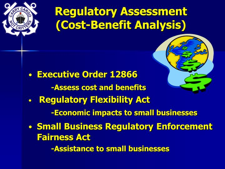 Regulatory Assessment (Cost-Benefit Analysis)