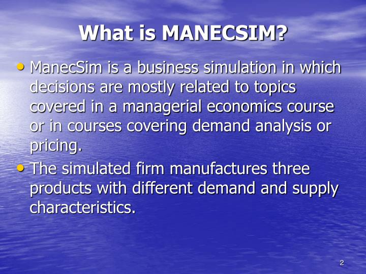 What is manecsim