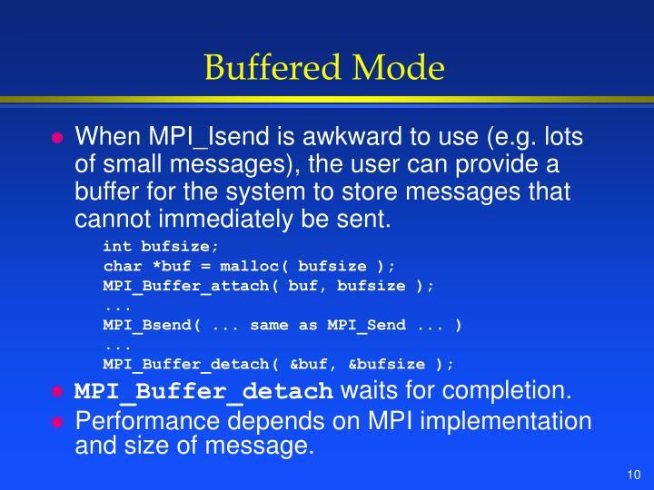 Buffered Mode