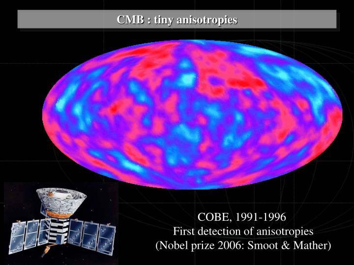 CMB : tiny anisotropies