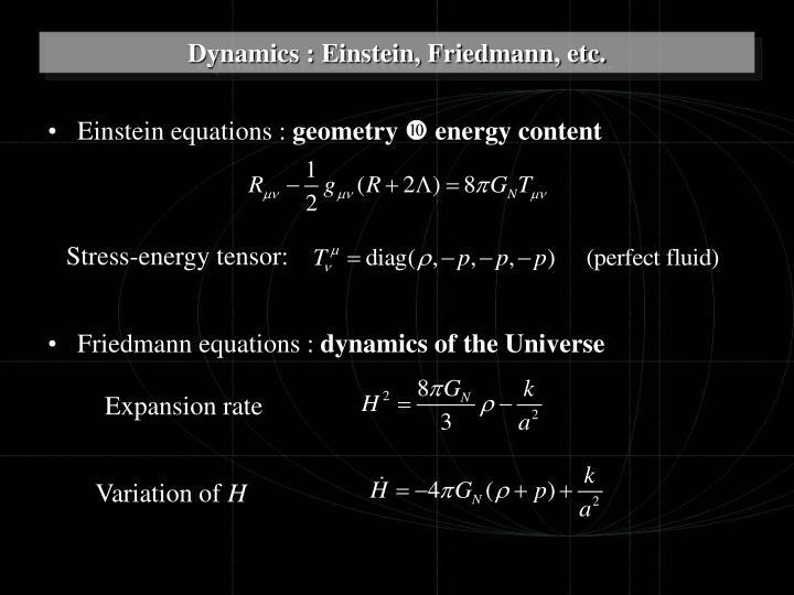 Einstein equations :