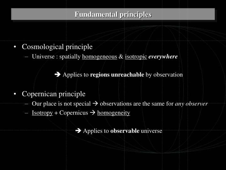 Cosmological principle