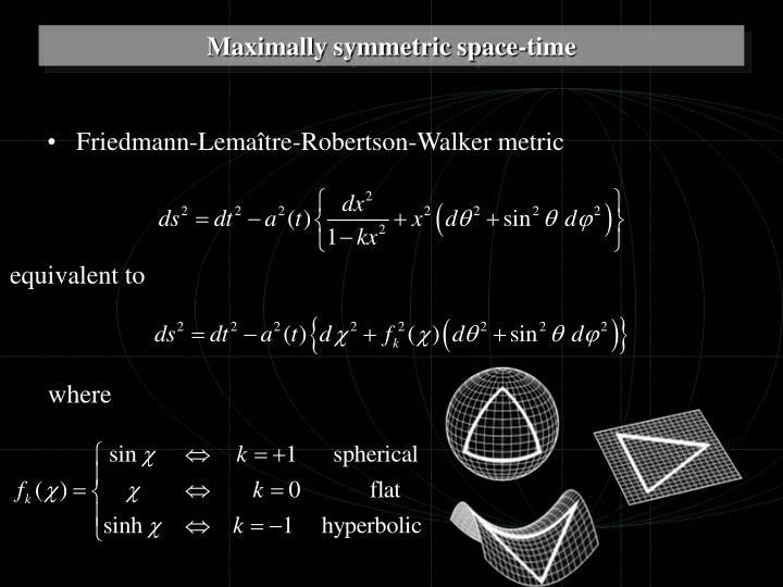 Friedmann-Lemaître-Robertson-Walker metric
