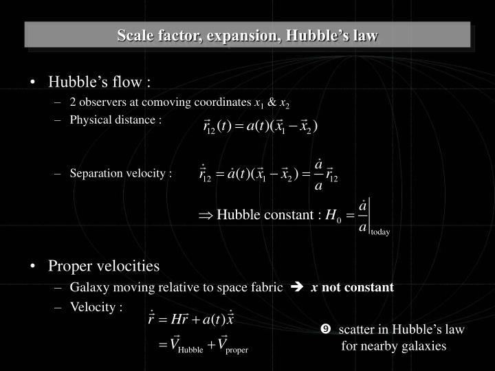 Hubble's flow :