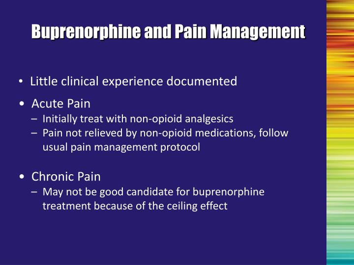 Buprenorphine and Pain Management