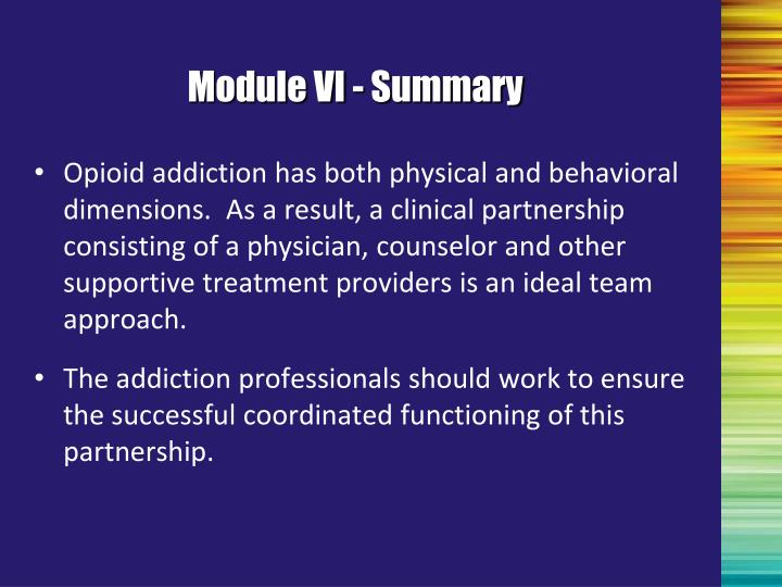 Module VI - Summary