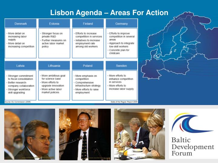 Lisbon Agenda – Areas For Action