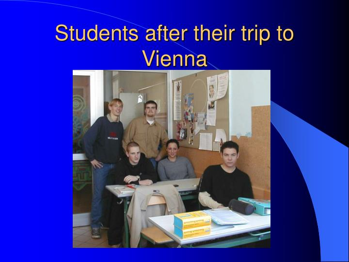 Students after their trip to Vienna