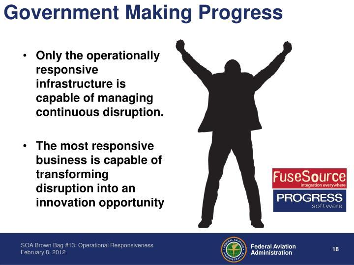 Government Making Progress