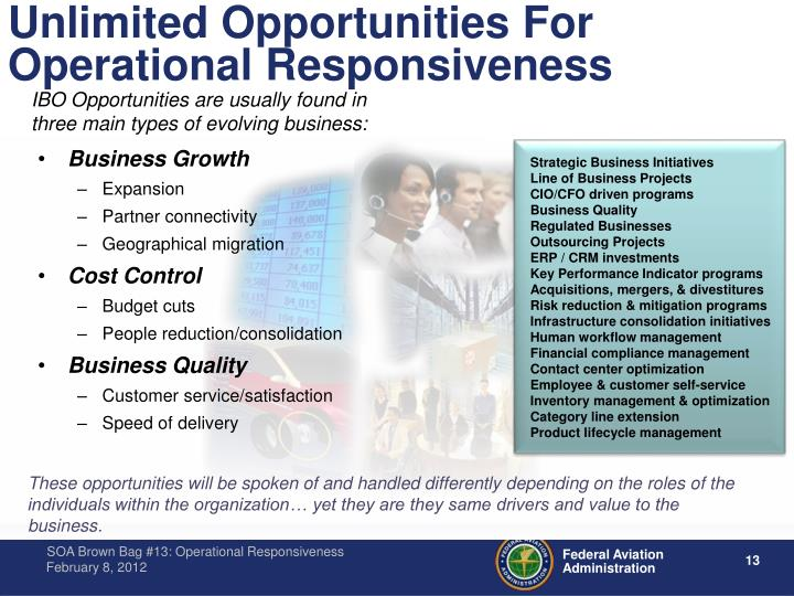 Unlimited Opportunities For Operational Responsiveness