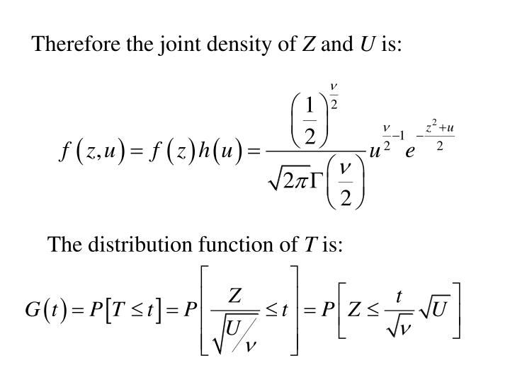 Therefore the joint density of