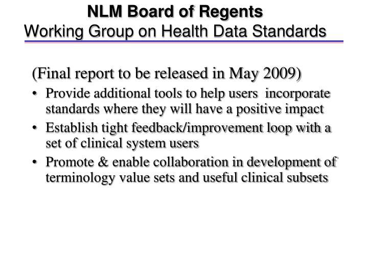 NLM Board of Regents