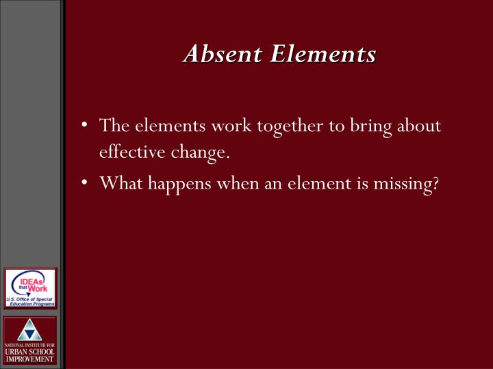 Absent Elements