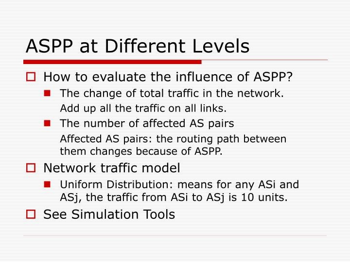 ASPP at Different Levels