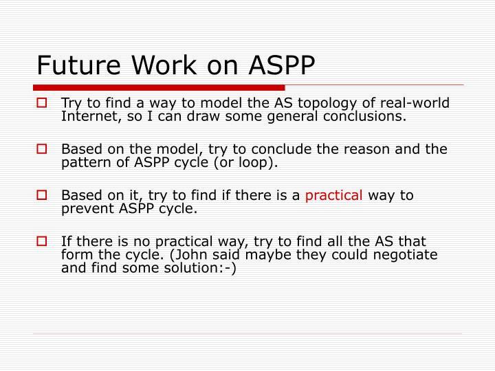 Future Work on ASPP