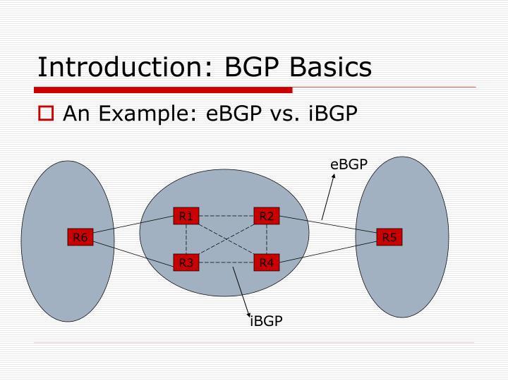 Introduction: BGP Basics