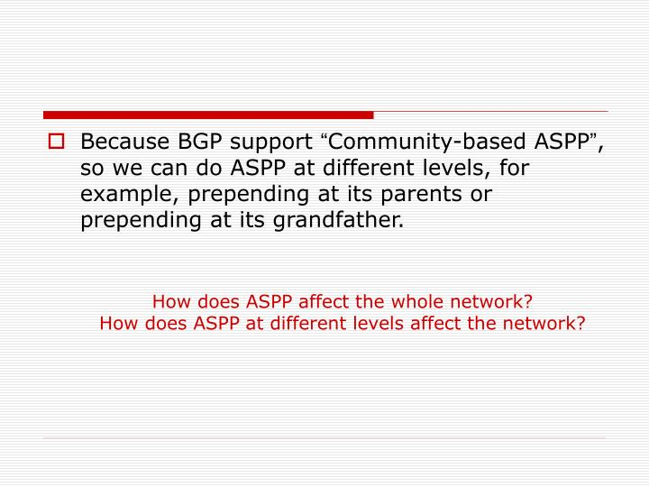 Because BGP support