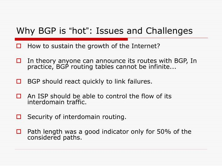 Why BGP is