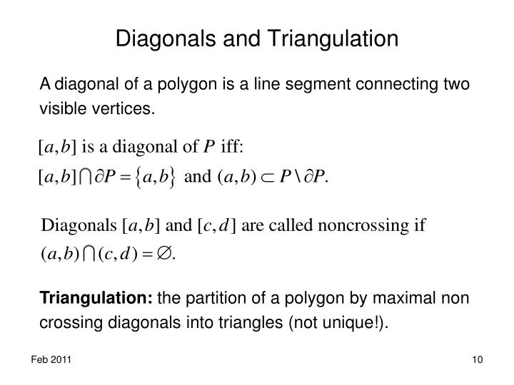 Diagonals and Triangulation