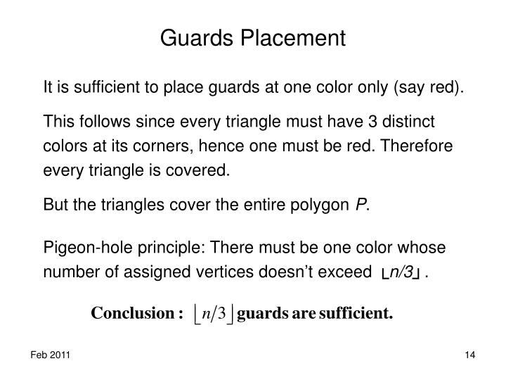 Guards Placement