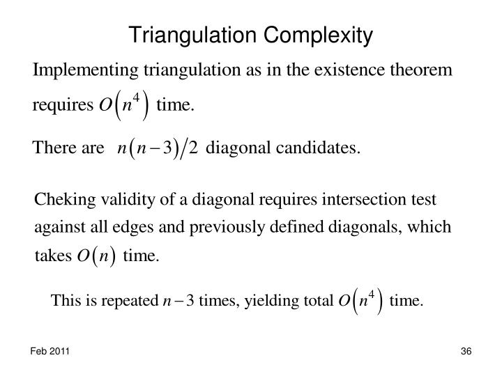 Triangulation Complexity