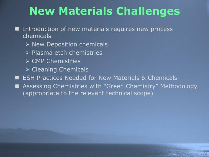 New Materials Challenges