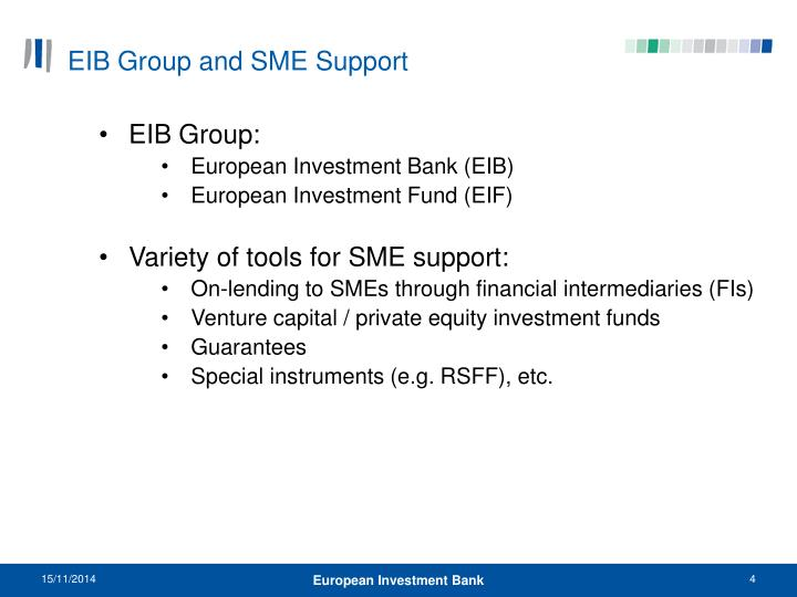 EIB Group and SME Support