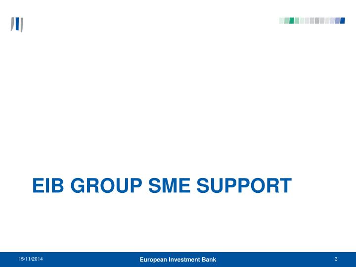 Eib group sme support